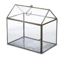 HAND MADE mini serra balcone serre di vetro INDOOR FIORI DA GIARDINO CUBO