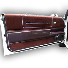 78-88 Monte Carlo, El Camino,Malibu,Cutlass Maroon Single Speaker Door Panel Set
