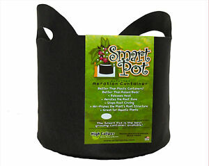 3 Gallon Black Smart Pots w/ Handles - 1 / 5 / 10 Pack Fabric Grow Container