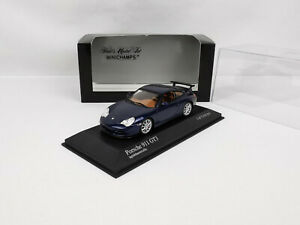Porsche 911 (996 II) GT3 de 2003 bleu 1/43 Minichamps