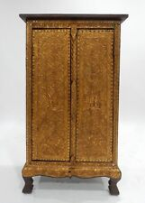 Gorgeous Thai Teak gilt wood with Stones and mirror Cabinets 40 inches