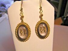 *ON SALE NOW*  Vintage Crystal Intaglio Zodiac Earrings *GEMINI*