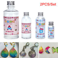 2X/Set Crystal Clear Resin Pigment Epoxy Transparent clear Resin Art Craft Nd