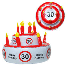 30. Birthday Cake with Candles Inflatable, Happy Birthday, New, 28 CM