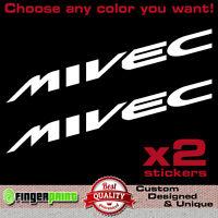 MIVEC decal sticker vinyl mitsubishi ralliart colt spirit of competition evo mr