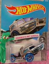 Case B 2016 Hot Wheels HW POPPA WHEELIE #43 ✰Chrome/Blue✰Super Chromes
