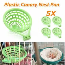 5Pcs Canary Nest Pan Liner Plastic Nesting Canaries Finches Budgies Cage 14cm