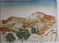Yannick BALLIF Gravure etching signée num. Carte postale du midi Provence 1988