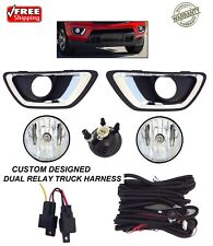 NEW FOG LIGHTS KIT FOR 2015 16 17 18 CHEVROLET COLORADO TRUCK DUAL RELAY HARNESS