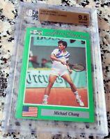 MICHAEL CHANG 1991 Net Pro SP Rookie Card RC BGS 9.5 GEM MINT HOF Grand Slam $$