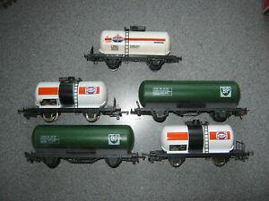 5 Lima OO Gauge Mixed Tanker Wagons