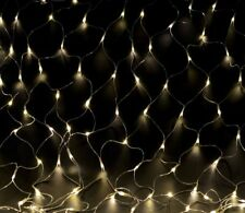 LED Lichternetz, Lichterkette, Netz 1,5x,5 m, 144 LED mit Controller warmweiß
