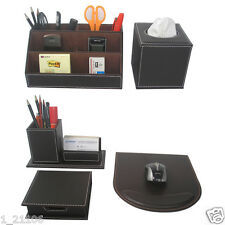 Set of 5pcs Office Desk Stationery Organizer Card Pen Box Tissues Case Mousepad