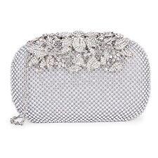 Women Lady Evening Party Wedding Clutch Bag Handbag Purse Crystal Rhinestone