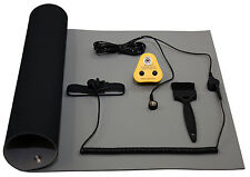 ESD, anti-statica, terra BENCH MAT (600 x 500mm) include euro Fissaggio Plug KIT