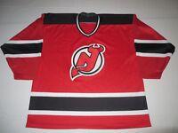 NHL Hockey Vintage 90s New Jersey Devils Sewn Stitched Jersey XL XLarge CCM