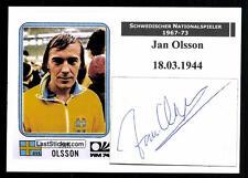 Jan Olsson Nationalspieler Schweden 1967-73 Original Signiert + A 100753