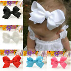 Cute girls Ladies Boutique Hair Bows Alligator Clip Grosgrain Ribbon Headbands