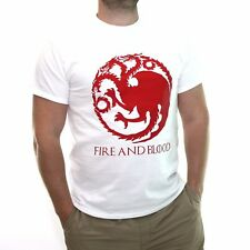 Fire and Blood T Shirt Mother of Dragons Mens Thrones targaryen Womens Tee BF2