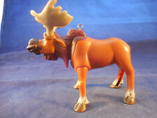 "lg. plastic bobble head moose ornament 4 1/4"" tall custom made"
