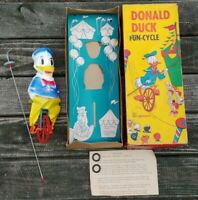 Vtg Walt Disney DONALD DUCK FUN CYCLE w ORIGINAL BOX (Box Excellent Condition)