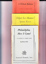 THREE CLASSIC PLAY READINGS 1966-DEL BALANCE-ALBEE/PHILADELPHIA-FRIEL/SPOON RIV
