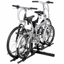 """Dual Twin Two Bike Bicycle Auto Trailer 2"""" Tow Hitch Mount Carrier Rack Holder"""