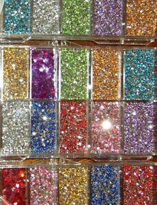 3600 pcs Assorted 12 Colour Multi Shape Rhinestones Gems WHEEL NAIL ART GEL TIPS