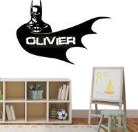 Batman Wall Stickers Superhero Personalised Name Comic Bedroom Art Decals Vinyl