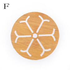 Wooden Dining Table Placemats Pot Cup Mat Heat Insulation Home Kitchen Accessory C