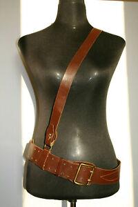 Russische Armee Gürtel Leder dunkel braun Länge:129 cm. Breite: 5 cm.