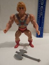 He-Man MOTU Masters / Universe HE-MAN w/ ARMOR & AX Tight Stands Holds Taiwan