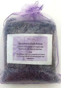 Aromatherapy Decadence Dead Sea Bath Salts Patchouli Orange Jasmine 200g