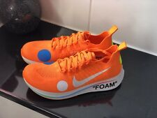 Nike Off White Zoom Fly Mercurial UK 8 World Cup Collection Orange