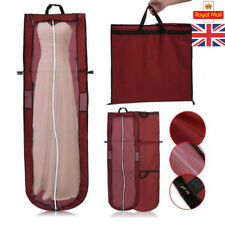 "UK 72"" Dustproof Long Garment Dress Cover Bridal Wedding Dresses Storage Bag"