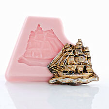 Pirate Ship Silicone Mold Food Safe Craft Jewelry Resin Mold Sail Boat Mold (867