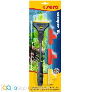 "sera Scraper XL 12"" Inch for Glass and Acrylic Aquariums Includes 3 Blades"