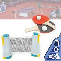 Table Tennis Set Portable Retractable Ping Pong Set Net Bats Expandable Net Kit