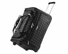 "American Tourister 21"" Fashion Rolling Windowpane Duffel Bag - Black"