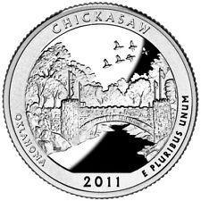 2011 Chickasaw National Recreation Area Silver Proof Quarter Gem DCAM