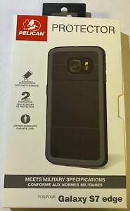 Pelican Protector Rugged Case for Samsung Galaxy S7 Edge ONLY - Black/Gray