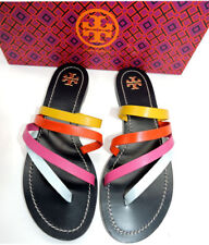 Tory Burch Patos Flat Thong Sandal Slide Mules Strappy Flip Flop 7 Shoes