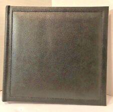 Hallmark Black Stitch Bonded Leather Photo Album Book Bound Self Adhesive Pages
