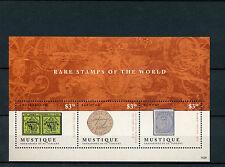 Mustique Grenadines St Vincent 2014 MNH Rare Stamps World 3v M/S Geneva Double
