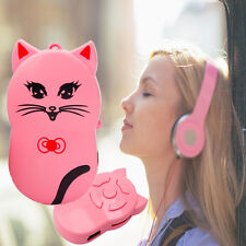 Portable Cute Cat USB MP3 Player 3.5mm Stereo Jack Support 32GB Micro SD TF Card