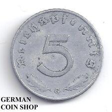 FEHLPRÄGUNG - Doppelt geprägte Zahl 5 Reichspfennig Zink 1941 G - SELTEN