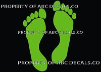 VRS Footprint Foot Print Stick People Daughter Family Mom Dad Son Vinyl Decal
