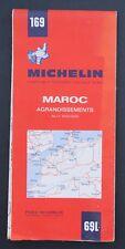 Carte MICHELIN old map n°69 MAROC 1971 Bibendum pneu