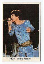 1970s Swedish Pop Star Card #604 Rolling Stones vocalist Mick Jagger