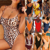 Women Monokini One Piece Swimsuit Push-up Padded Bikini Swimwear Bathing Suit US